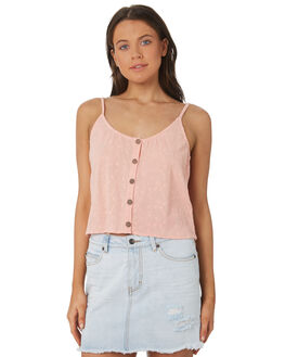 SHELL PINK OUTLET WOMENS RUSTY FASHION TOPS - SCL0301-SHP
