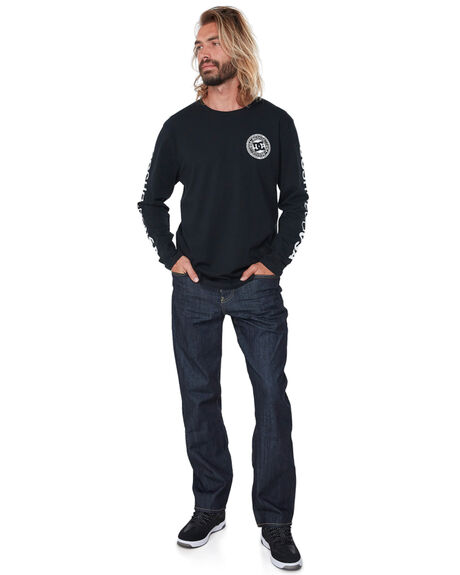 BLACK MENS CLOTHING DC SHOES TEES - UDYZT03534KVJ0