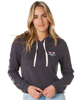 OIL GREY HEATHER WOMENS CLOTHING HURLEY JUMPERS - CN7712097