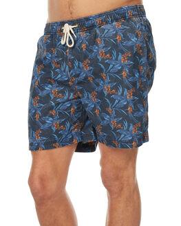 NAVY BLUE MENS CLOTHING ACADEMY BRAND BOARDSHORTS - 18S704NVBL