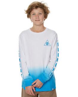 WHITE BLUE KIDS BOYS ELEMENT TEES - 373054WHT