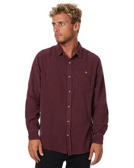 BURGUNDY MENS CLOTHING ROLLAS SHIRTS - 10855C170