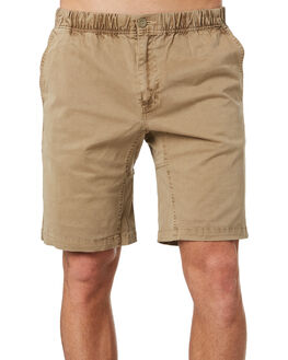WASHED KHAKI MENS CLOTHING DEPACTUS SHORTS - D5193232WKHA