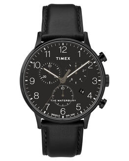 BLACK BLACK DIAL MENS ACCESSORIES TIMEX WATCHES - TW2R71800BLK
