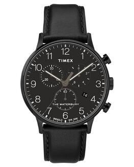 BLACK BLACK DIAL MENS ACCESSORIES TIMEX WATCHES - TW2R71800BLK