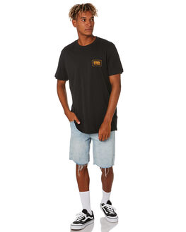 BLACK MENS CLOTHING RIP CURL TEES - CTEYE20090