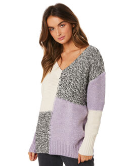 PURPLE WOMENS CLOTHING RUSTY KNITS + CARDIGANS - CKL0361THS