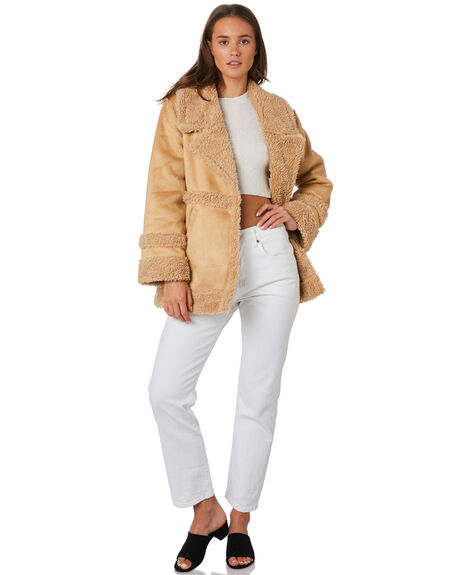LIGHT TAN OUTLET WOMENS ALL ABOUT EVE JACKETS - 6434046SAN