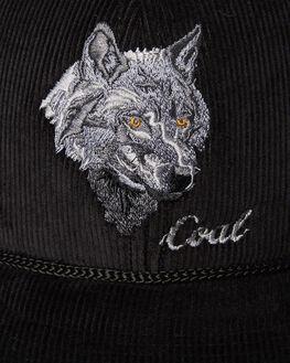 BLACK WOLF MENS ACCESSORIES COAL HEADWEAR - 200916BLKW