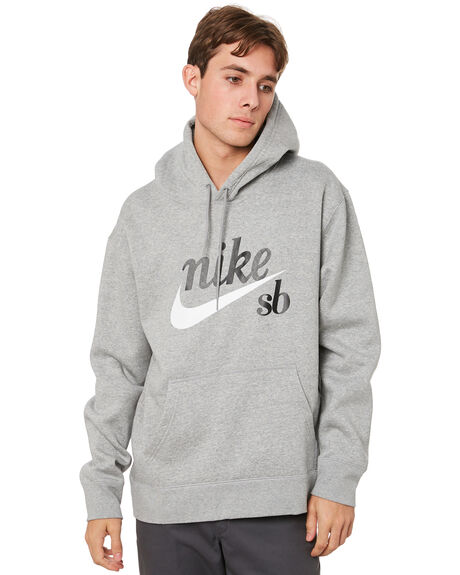 DARK GREY HEATHER MENS CLOTHING NIKE JUMPERS - CW4383063