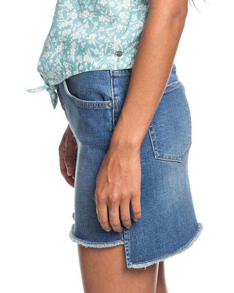 MEDIUM BLUE WOMENS CLOTHING ROXY SKIRTS - ERJDK03016-BMTW