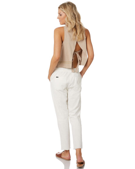 VINTAGE CREAM WOMENS CLOTHING RUSTY PANTS - PAL0994CREAM