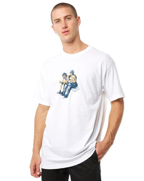 WHITE MENS CLOTHING PASS PORT TEES - R23FRIENDLYWHT