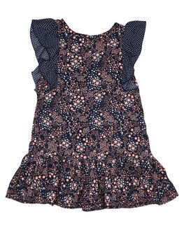 POPPY PRINT KIDS GIRLS EVES SISTER DRESSES + PLAYSUITS - 8021017POP