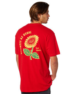 RED MENS CLOTHING FEAT TEES - FTSBAU01RED