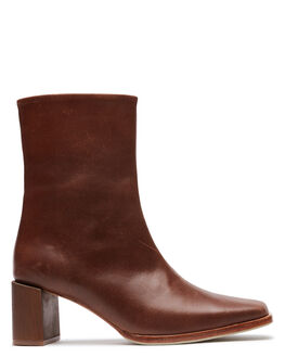 BROWN VINTG LEATHER WOMENS FOOTWEAR JAMES SMITH BOOTS - 13556769BVL