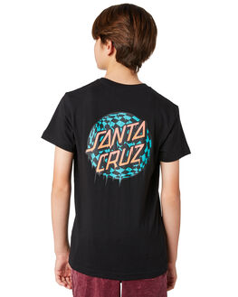 BLACK KIDS BOYS SANTA CRUZ TEES - SC-YTD8124BLK