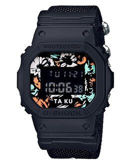 BLACK FLORAL WOMENS ACCESSORIES G SHOCK WATCHES - DW5600TA-KU-1DSM