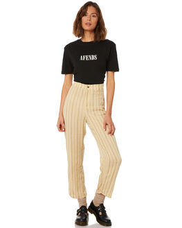 BLACK WOMENS CLOTHING AFENDS TEES - W191010BLK