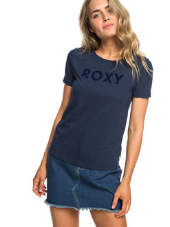 DRESS BLUES WOMENS CLOTHING ROXY TEES - ERJZT04512-BTK0