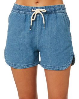 VINTAGE BLUE WOMENS CLOTHING RUSTY SHORTS - WKL0689VIB