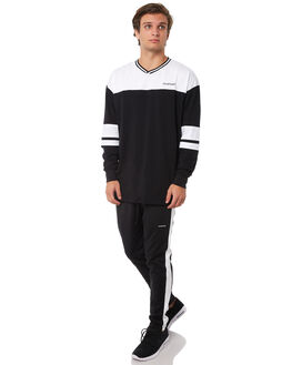 BLACK WHITE MENS CLOTHING ZANEROBE PANTS - 704-PREBKWH