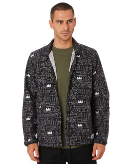 BLACK WHITE MENS CLOTHING HERSCHEL SUPPLY CO JACKETS - 15002-00476