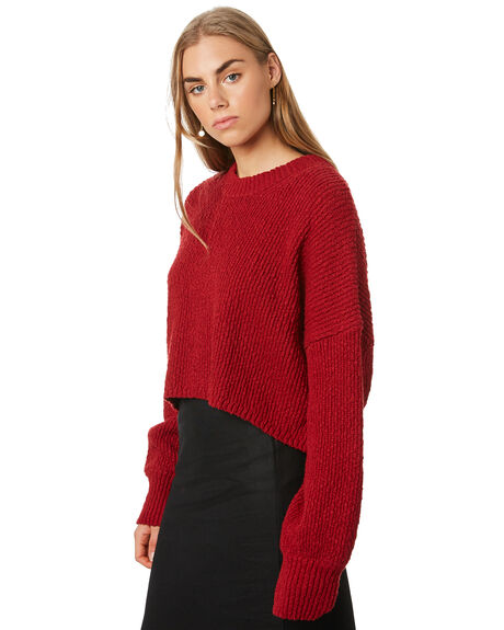 RUBY RED WOMENS CLOTHING THRILLS KNITS + CARDIGANS - WTA20-204HRRED
