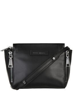 BLACK WOMENS ACCESSORIES STATUS ANXIETY HANDBAGS - SA7221BLK