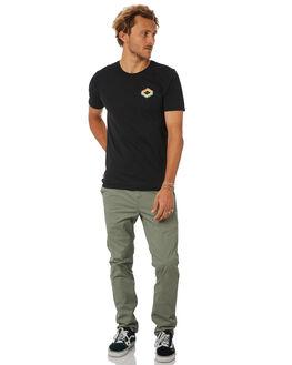 BLACK MENS CLOTHING HURLEY TEES - AJ1735010