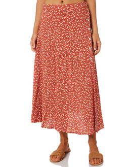 RED FLORAL WOMENS CLOTHING ELWOOD SKIRTS - W01618RDFLR