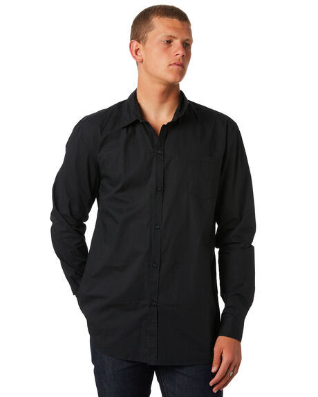 BLACK MENS CLOTHING SWELL SHIRTS - S5164667BLK