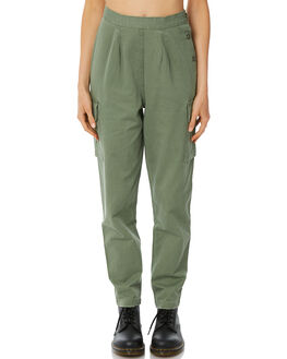 ARMY GREEN WOMENS CLOTHING THRILLS PANTS - WTW8-401EARM