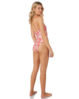 RED FLORAL WOMENS SWIMWEAR O'NEILL ONE PIECES - 4821923RFL