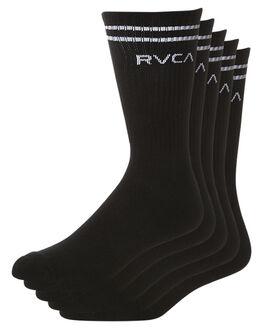 BLACK MENS ACCESSORIES RVCA SOCKS + UNDERWEAR - R352601BBLK