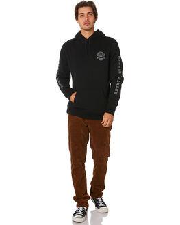 BLACK WHITE MENS CLOTHING BRIXTON JUMPERS - 02653BKWHT