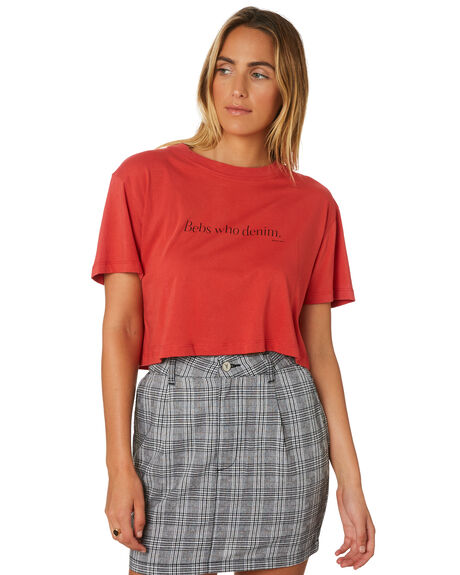 CHERRY WOMENS CLOTHING A.BRAND TEES - 71445-2873