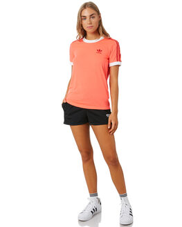 FLASH RED WOMENS CLOTHING ADIDAS TEES - ED7474RED