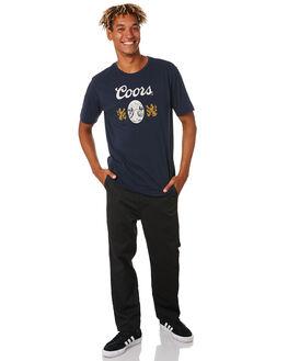 NAVY MENS CLOTHING BRIXTON TEES - 16196NAVY