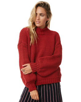 RED WOMENS CLOTHING RUE STIIC KNITS + CARDIGANS - S118-107-2RED