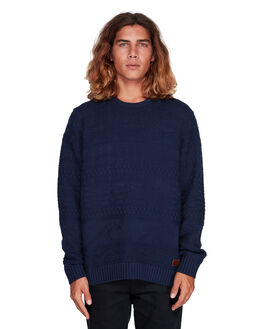 DARK BLUE MENS CLOTHING BILLABONG KNITS + CARDIGANS - BB-9507803-B69