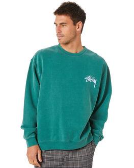 HUNTER GREEN MENS CLOTHING STUSSY JUMPERS - ST007209HNTGR