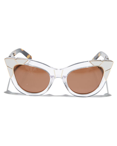 CLEAR GOLD WHITE WOMENS ACCESSORIES PARED EYEWEAR SUNGLASSES - PE1201WCGLDWH
