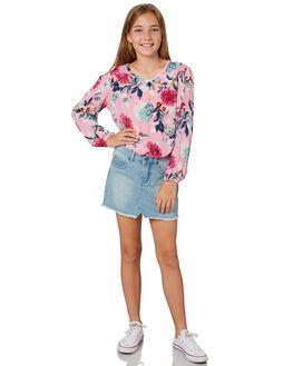 SUNSET PINK KIDS GIRLS BILLABONG TOPS - 5581091PNK