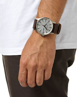 SILVER BROWN MENS ACCESSORIES NIXON WATCHES - A1051113