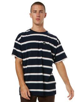 NAVY STRIPE MENS CLOTHING RPM TEES - 7HMT01BNSTRP