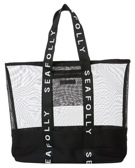 BLACK WOMENS ACCESSORIES SEAFOLLY BAGS + BACKPACKS - 71581-BGBLK