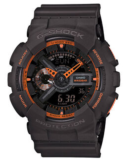 BLACK ORANGE MENS ACCESSORIES G SHOCK WATCHES - GA110TS-1A4BKOR