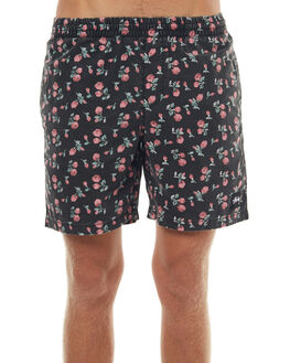 BLACK MENS CLOTHING STUSSY BOARDSHORTS - ST072604BLK