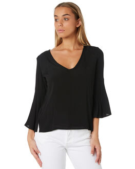BLACK WOMENS CLOTHING RUSTY FASHION TOPS - WSL0608BLK